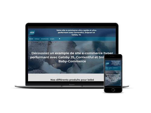 Site e-commerce avec Gatsby, Snipcart et Contentful
